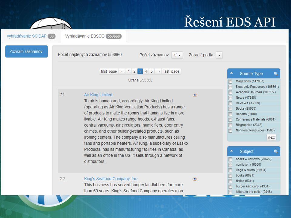 Řešení EDS API