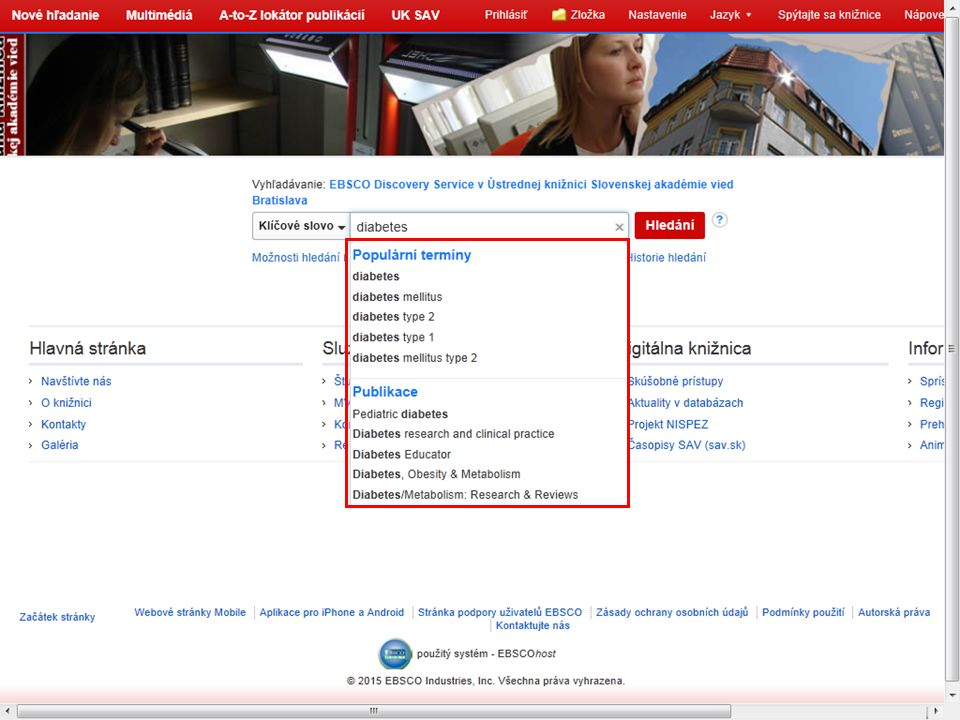 Kvalita relevance záznamů Detailní metadata Integrace licencovaných bibliografií Otevřený systém