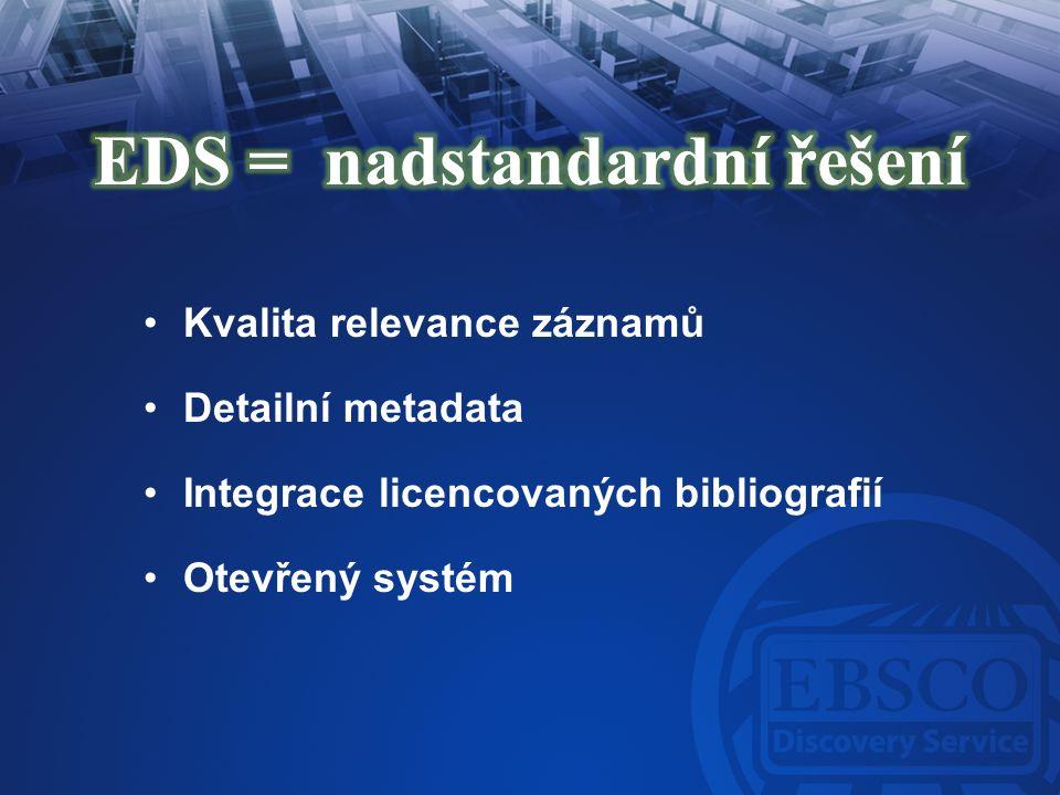 Integrace EIZ & detailní indexace