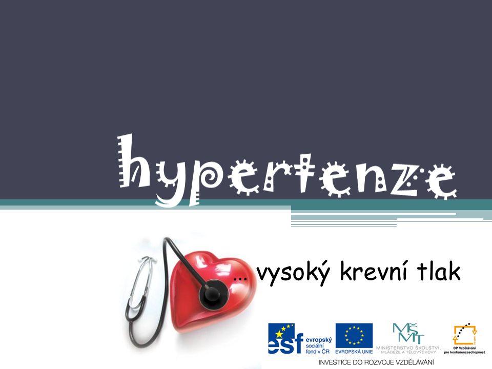 2.Sekundární HYPERTENZE Způsobena nějakou jinou chorobou v organismu spíš doprovodným stavem Mezi nemoci které zvyšují Tk patří: - Cukrovka - Onemocnění srdce -Nemoci ledvin - Onemocnění endokrinních žláz-štítné žlázy -Arterioskleróza