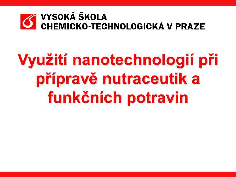  je definována jako nanomateriál, který je ve všech vnějších rozměrech nanostrukturní, tedy v měřítku 1·10 -9 m  vykazují odlišné vlastnosti než částice větších rozměrů (chemická reaktivita, rozpustnost, bod tání) Nanočástice  chemické povahy -anorganické -organické  původu -přírodní -syntetické  typu -lipidové -proteinové -sacharidové můžeme je rozdělit podle :