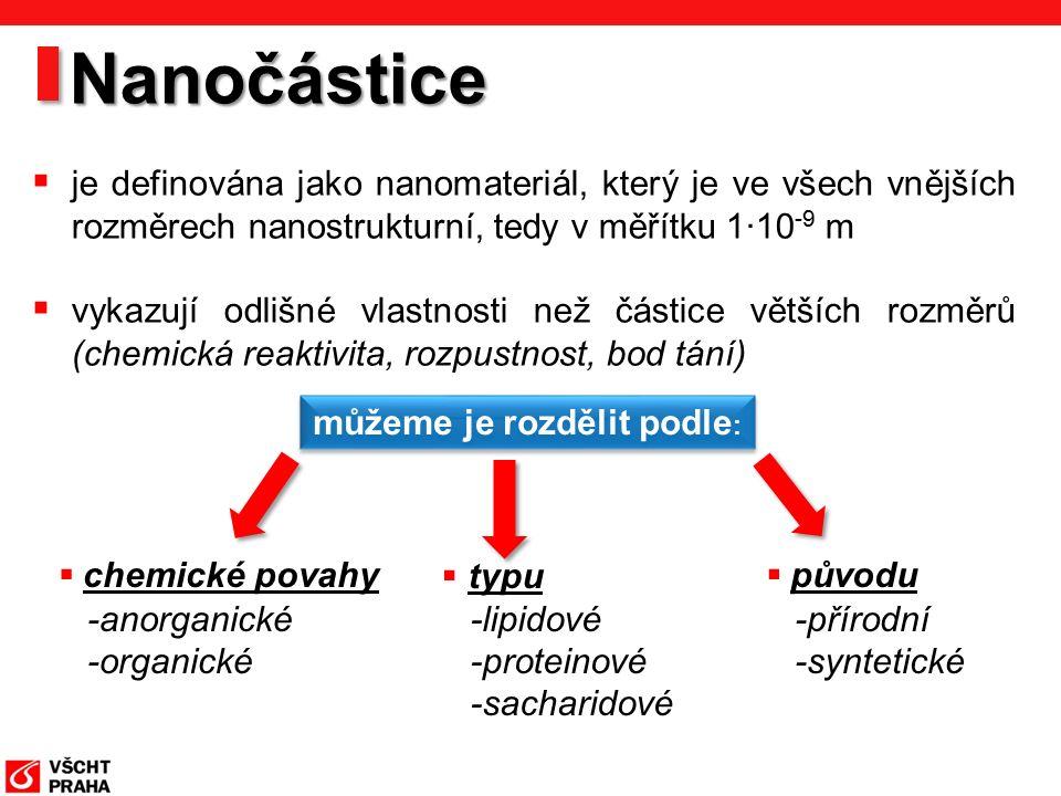 Projekt Nanolyse http://www.nanolyse.eu/default.aspxhttp://www.nanolyse.eu/default.aspx, 14.11.2011 k dispozici jsou nedostatečné informace o osudu nanočástic v lidském těle po orální expozici omezené znalosti o metodách pro detekci a charakterizaci organických NP v potravinách na základě těchto aspektů Evropská unie založila projekt Nanolyse: Nanoparticles in food Cílem je vyvinout vhodnou analytickou metodu pro stanovení organických NP v potravinách