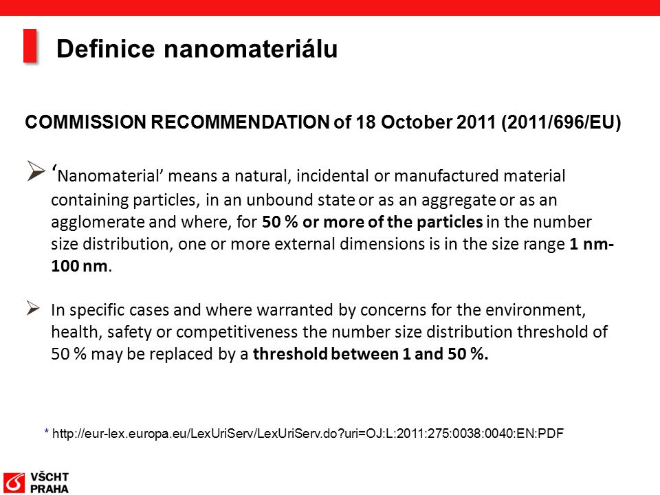 Nanomateriály v potravinách  Aditiva  Ingredience  Zpracované nanaostruktury Tradičně produkované (sýr, mléko, majonéza …)  Přirozený výskyt  Materiály, která jsou v kontaktu s potravinami Type of MaterialsApplications Vyráběné nanomateriály –SiO 2, TiO 2, CaCO 3, Ag … Nanoclays - nanojíl Nanoenkapsulace –Emulsie –Micely, Liposomy Rozmanitost aplikací a materiálů