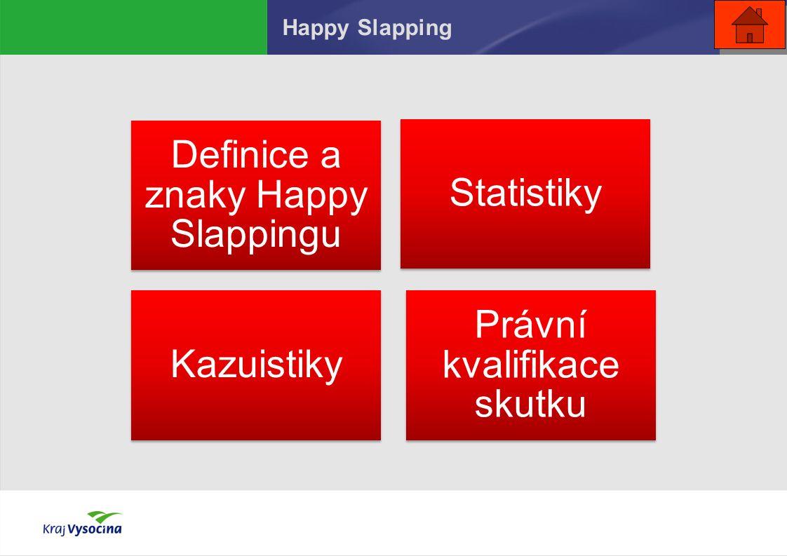 Happy Slapping Definice a znaky Happy Slappingu Statistiky Kazuistiky Právní kvalifikace skutku