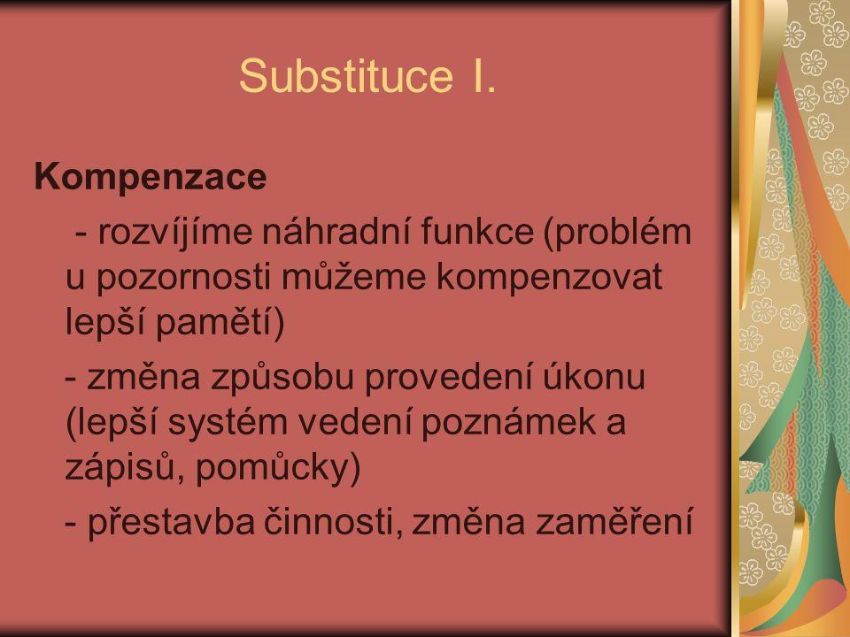Substituce I.