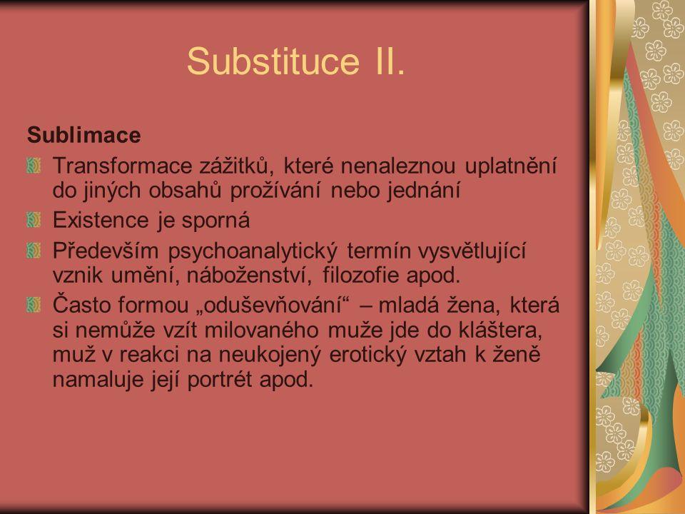 Substituce II.