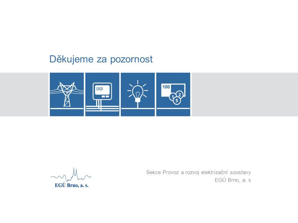 Děkujeme za pozornost Sekce Provoz a rozvoj elektrizační soustavy EGÚ Brno, a. s