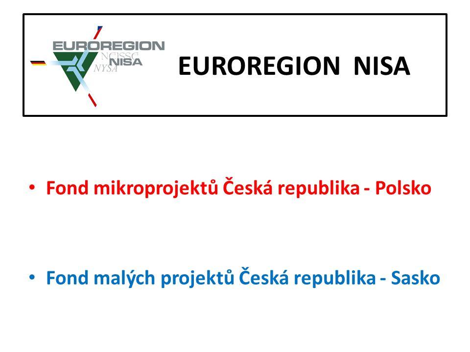 E EUROREGION NISA Fond mikroprojektů Česká republika - Polsko Fond malých projektů Česká republika - Sasko