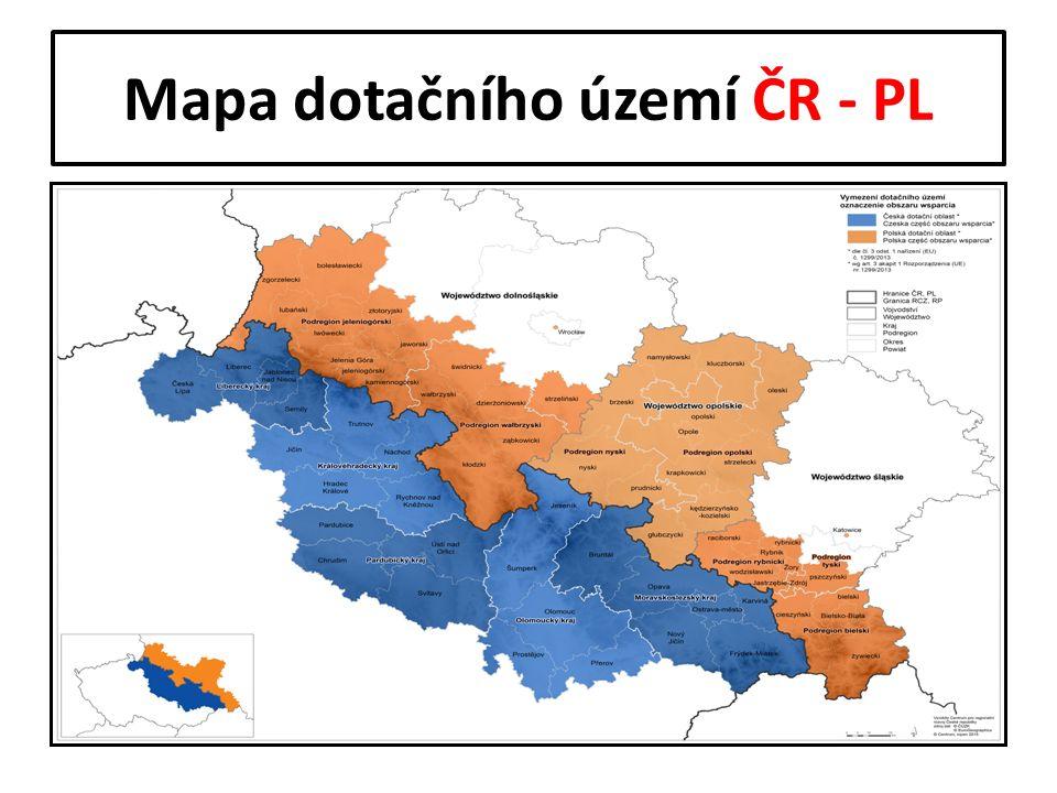 Mapa dotačního území ČR - PL