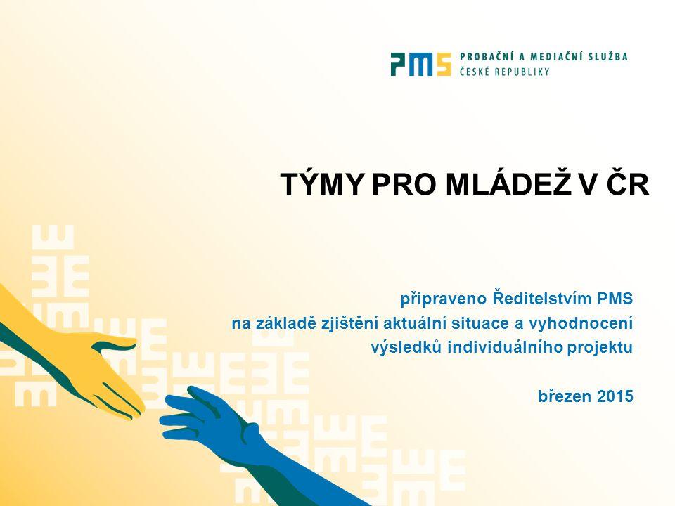 Týmy pro mládež ČR Týmy pro mládež působí v 90 % soudních okresů České republiky.