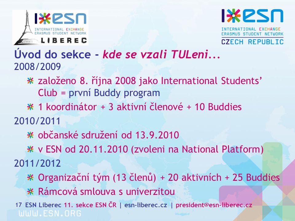 Úvod do sekce - kde se vzali TULeni... 2008/2009 založeno 8.