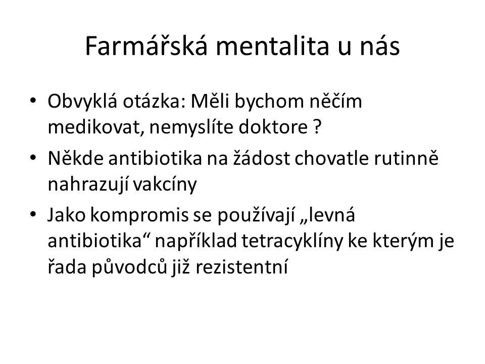 Farmářská mentalita u nás Obvyklá otázka: Měli bychom něčím medikovat, nemyslíte doktore .