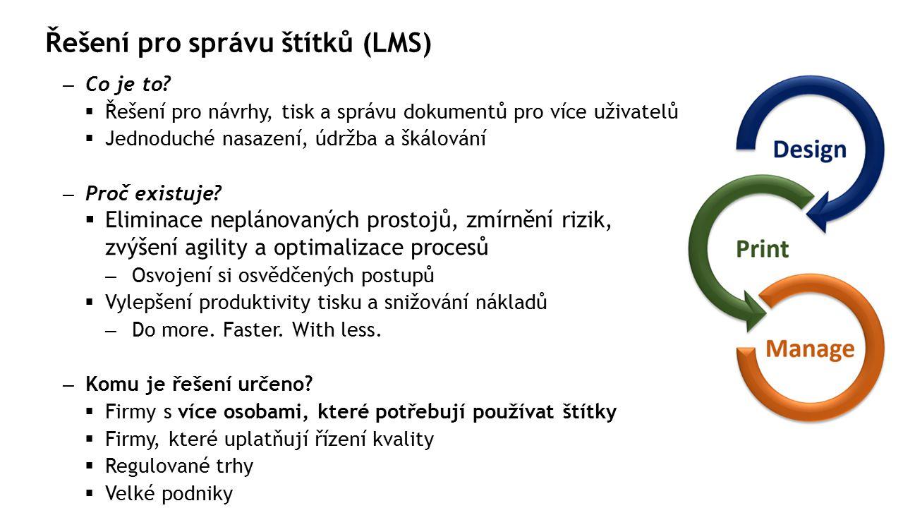 Řešení pro správu štítků (LMS) – Co je to.