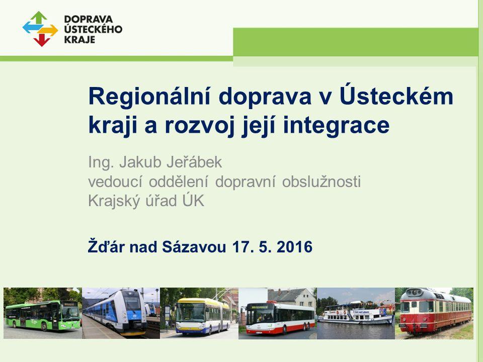 Zahájení provozu (systému integrované) Dopravy Ústeckého kraje – autobusové linky Rozvoj v etapách První impuls zahájení provozu vysoutěžených výkonů autobusové dopravy (15 brutto smluv 2015 - 2024, uspělo 5 dopravců) Provozováno 240 nových autobusů 162 vlastních linek DÚK na území Ústeckého kraje Zvýšení výkonu o cca 5 % na 20,294 mil.