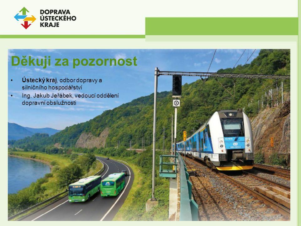Děkuji za pozornost Ústecký kraj, odbor dopravy a silničního hospodářství Ing. Jakub Jeřábek, vedoucí oddělení dopravní obslužnosti