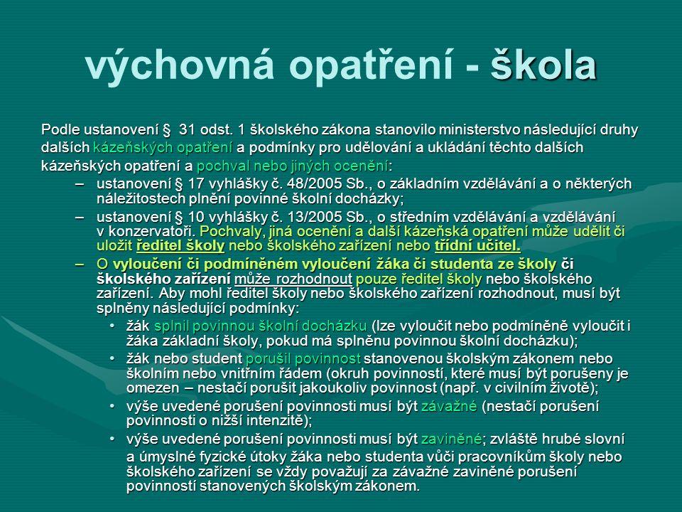 Spolupráce oddělení sociálně-právní ochrany dětí (OSPOD) vybraná ustanovení ze zákona č.
