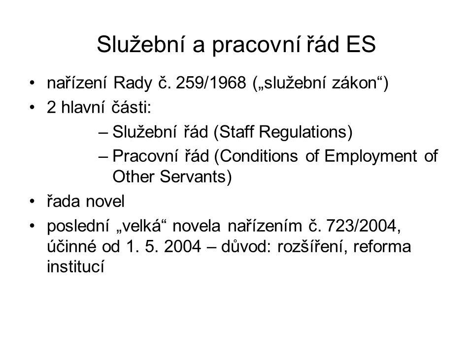 Služební a pracovní řád ES nařízení Rady č.