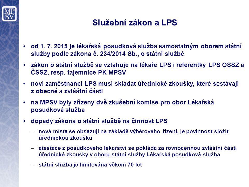 Služební zákon a LPS od 1. 7.