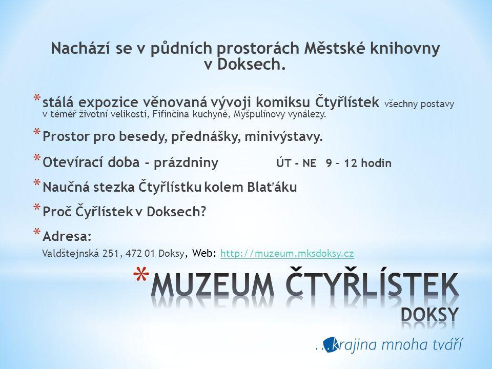Nachází se v půdních prostorách Městské knihovny v Doksech.