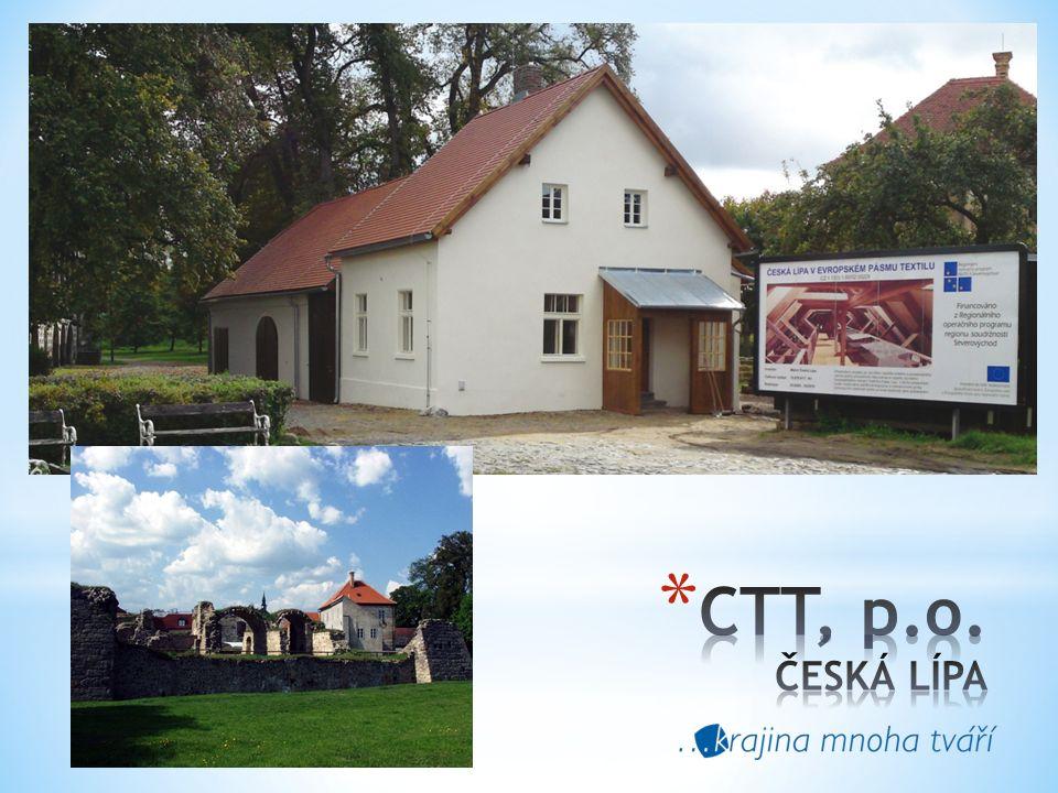 Centrum textilního tisku * vzniklo rekonstrukcí bývalého hospodářského stavení vodního hradu Lipý v České Lípě.