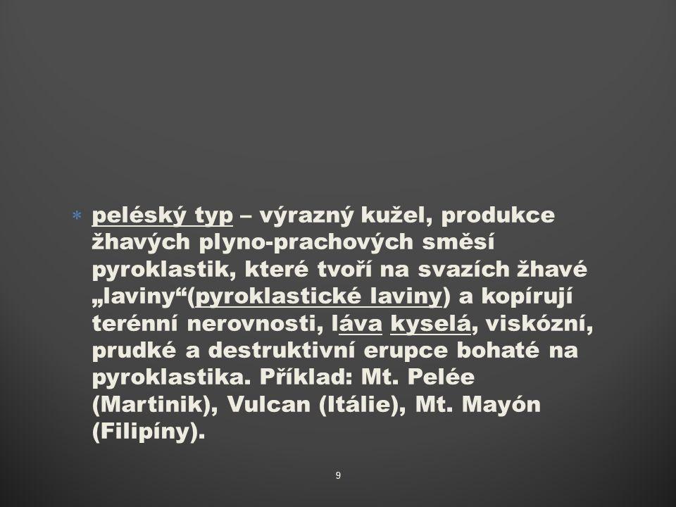  pliniovský typ – výrazný kužel příp.
