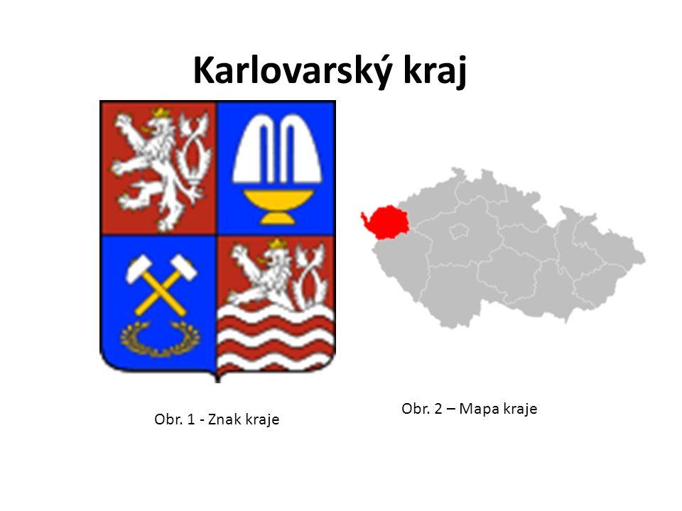 Obr. 1 - Znak kraje Obr. 2 – Mapa kraje Karlovarský kraj