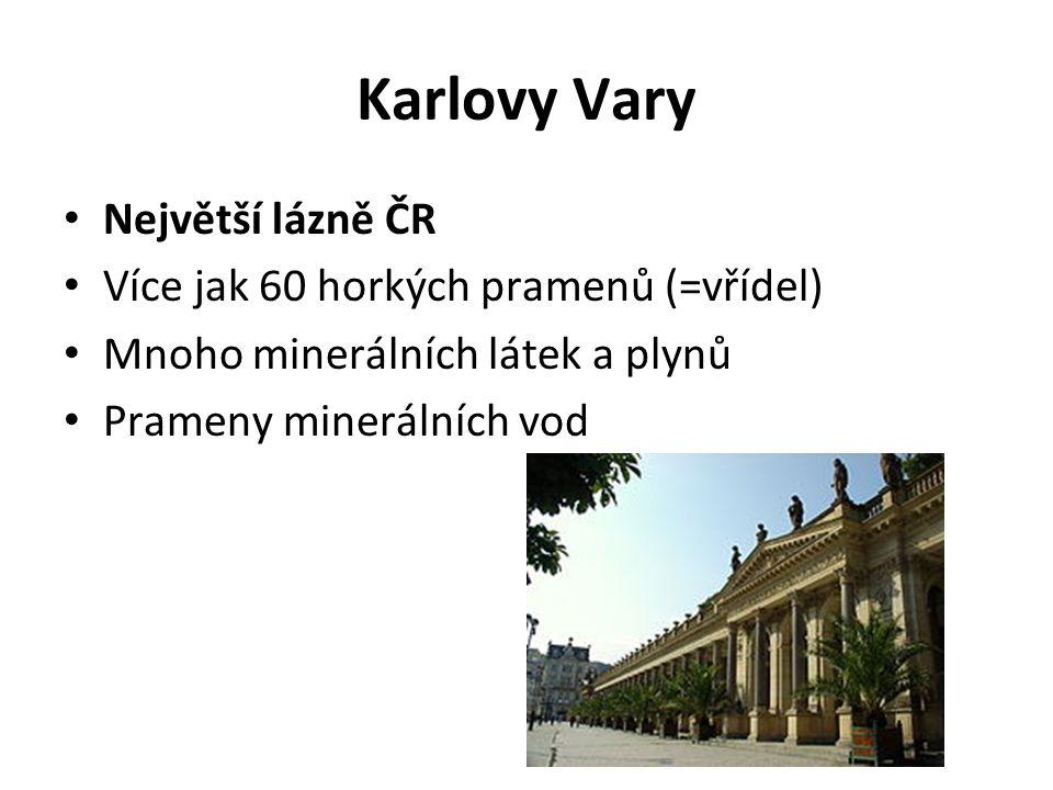 Karlovy Vary Výroba oplatek Bylinný likér Becherovka Minerální vody Mattoni Obr.