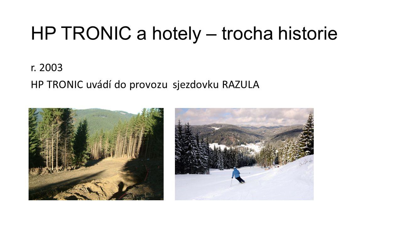 HP TRONIC a hotely – trocha historie r. 2003 HP TRONIC uvádí do provozu sjezdovku RAZULA