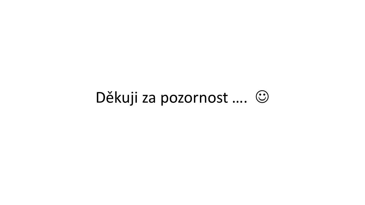 Děkuji za pozornost ….