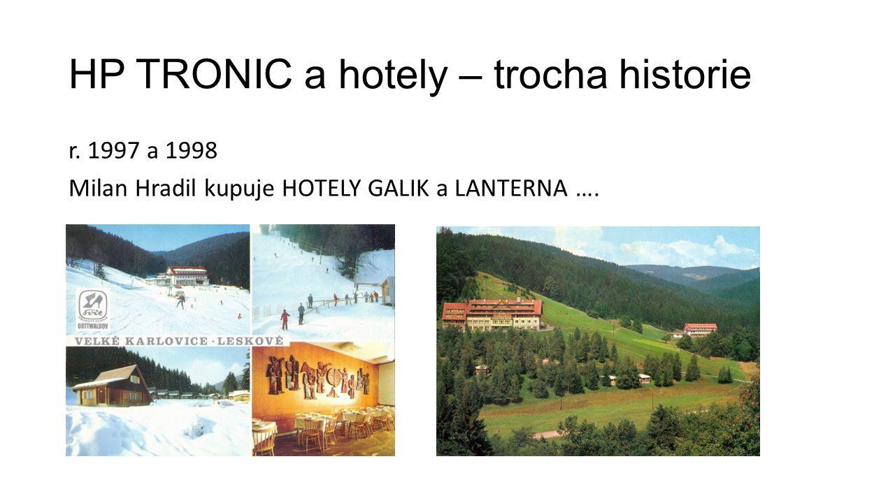 HP TRONIC a hotely – trocha historie r. 1997 a 1998 Milan Hradil kupuje HOTELY GALIK a LANTERNA ….
