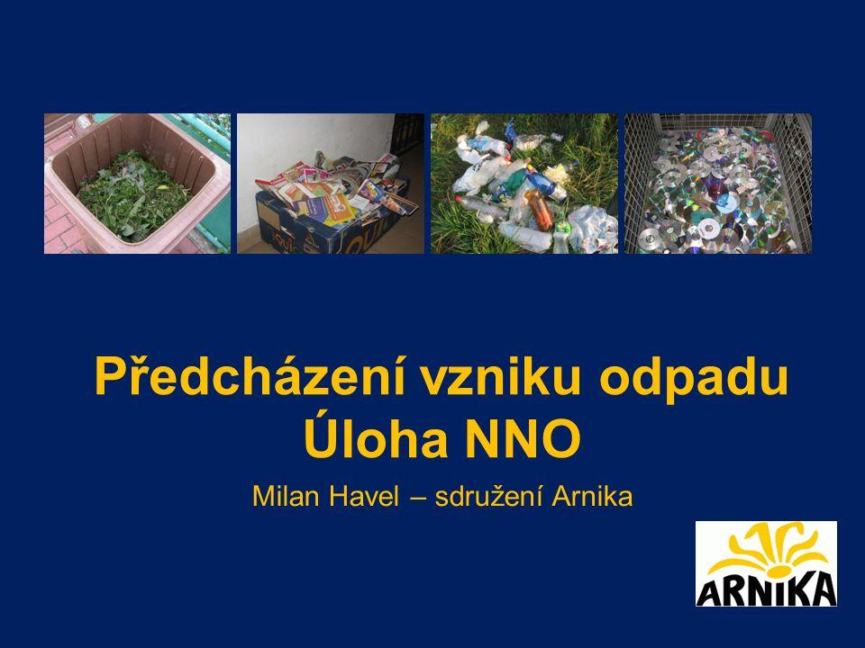 Předcházení vzniku odpadu Úloha NNO Milan Havel – sdružení Arnika