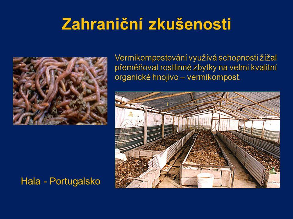 Zahraniční zkušenosti Vermikompostování využívá schopnosti žížal přeměňovat rostlinné zbytky na velmi kvalitní organické hnojivo – vermikompost.