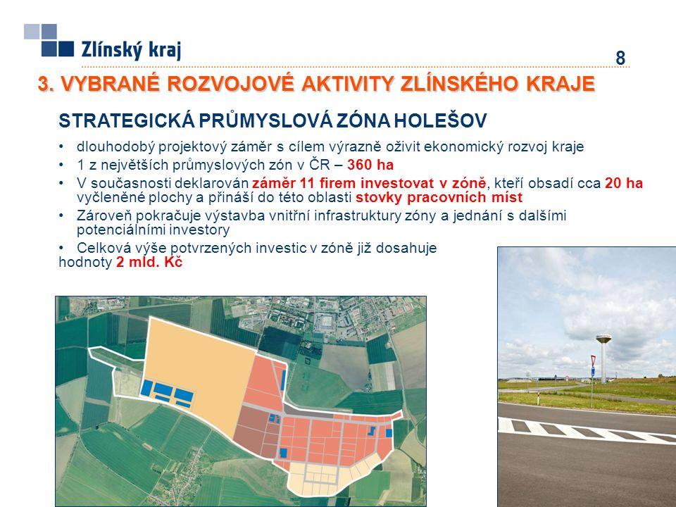 9 TECHNOLOGICKÝ PARK PROGRESS Součástí průmyslové zóny Holešov, financováno ze strukturálních fondů (program OPPI, celkové náklady 190 mil.