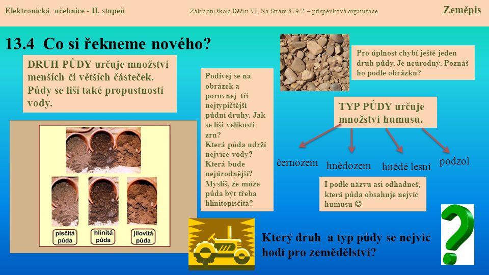 13.4 Co si řekneme nového.Elektronická učebnice - II.