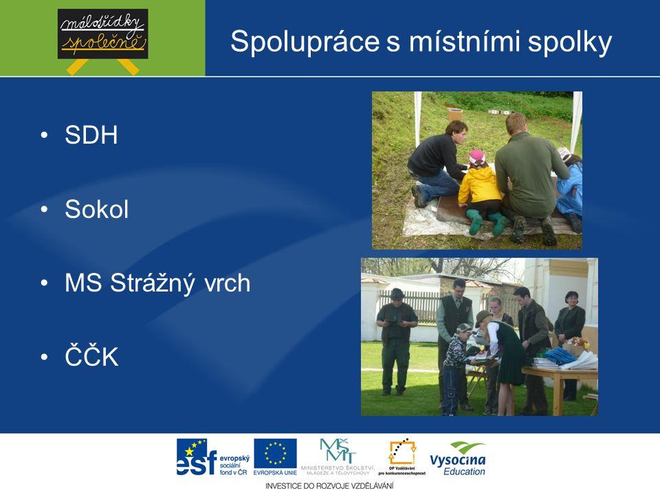 Spolupráce s místními spolky SDH Sokol MS Strážný vrch ČČK
