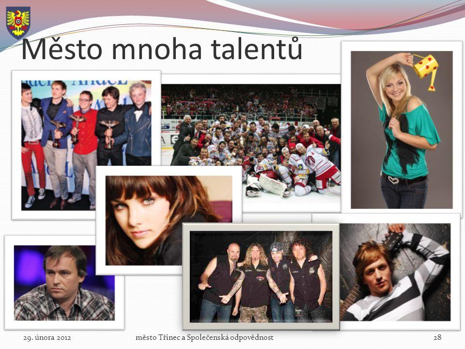Město mnoha talentů 29. února 2012město Třinec a Společenská odpovědnost28