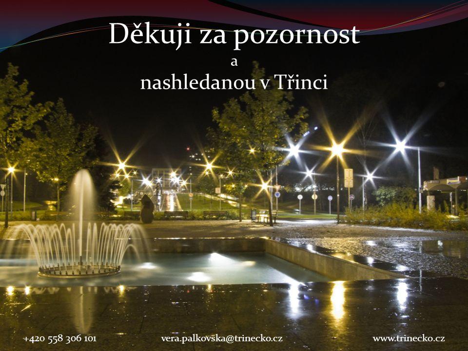 Děkuji za pozornost a nashledanou v Třinci +420 558 306 101vera.palkovska@trinecko.czwww.trinecko.cz