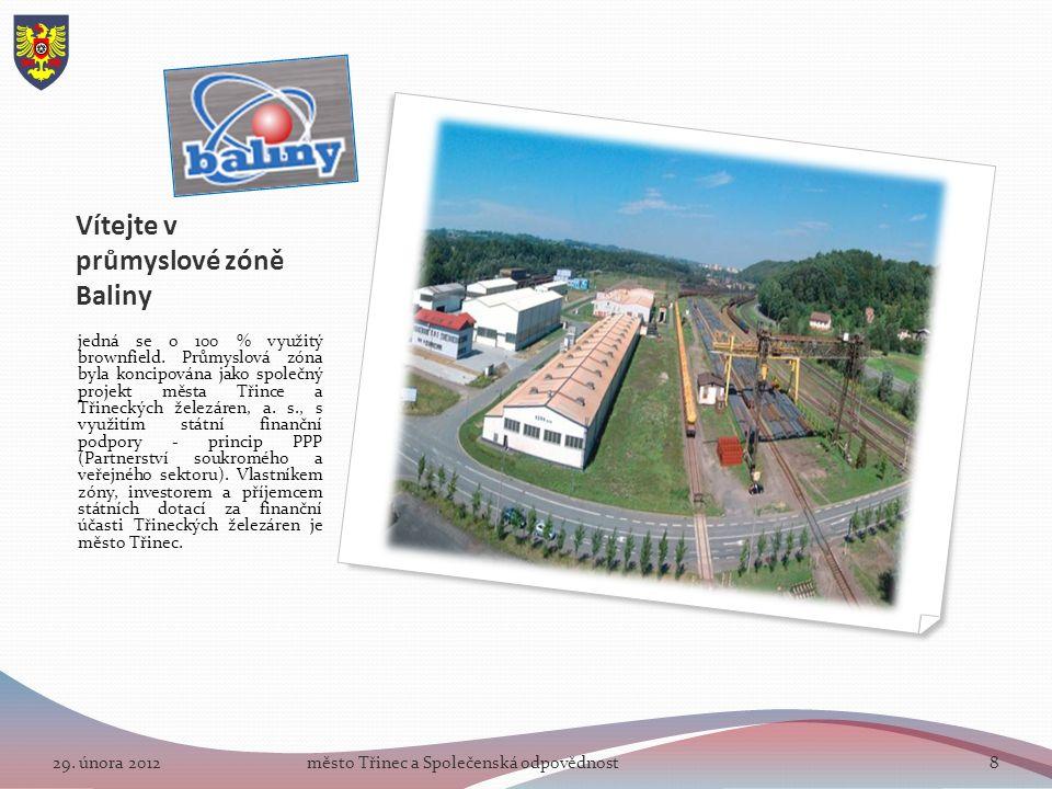 Vítejte v průmyslové zóně Baliny jedná se o 100 % využitý brownfield.