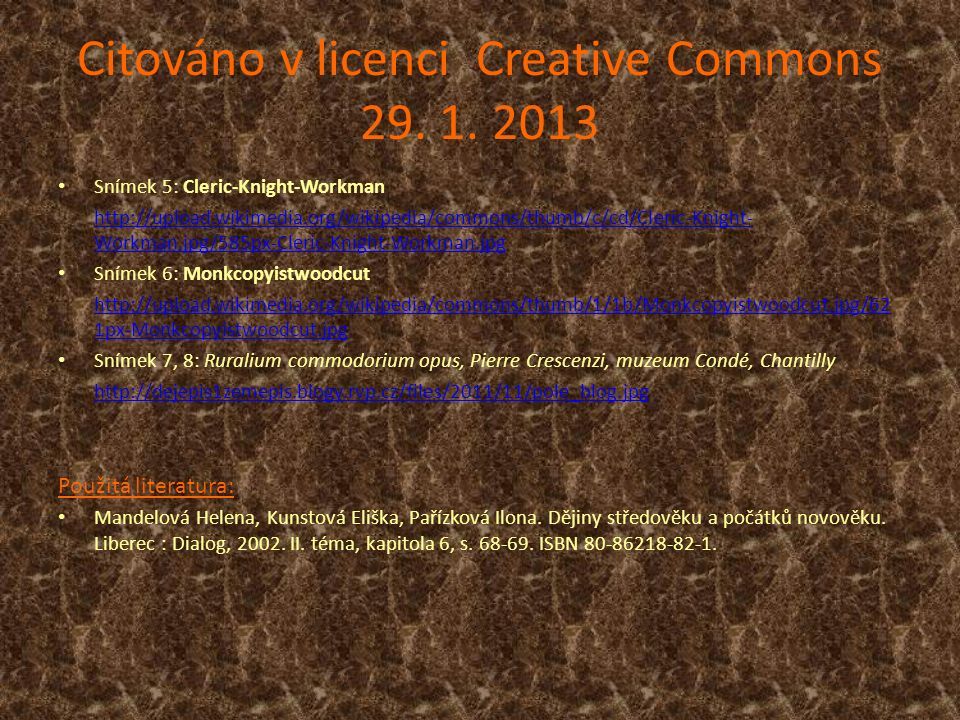 Citováno v licenci Creative Commons 29. 1.