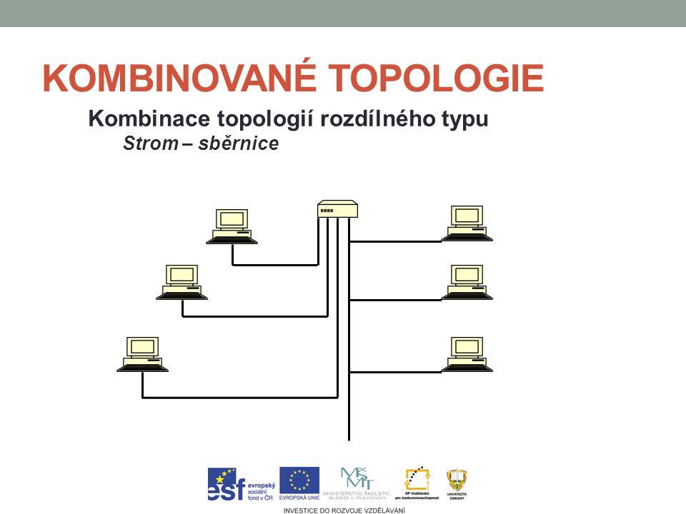 KOMBINOVANÉ TOPOLOGIE Kombinace topologií rozdílného typu Strom – sběrnice