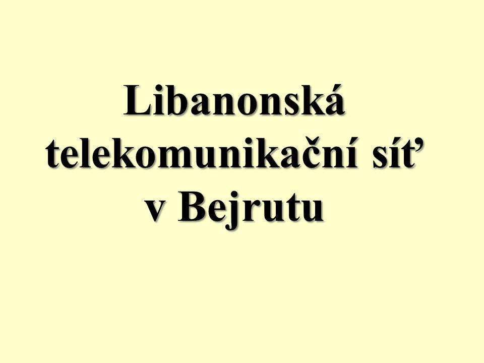 Libanonská telekomunikační síť v Bejrutu