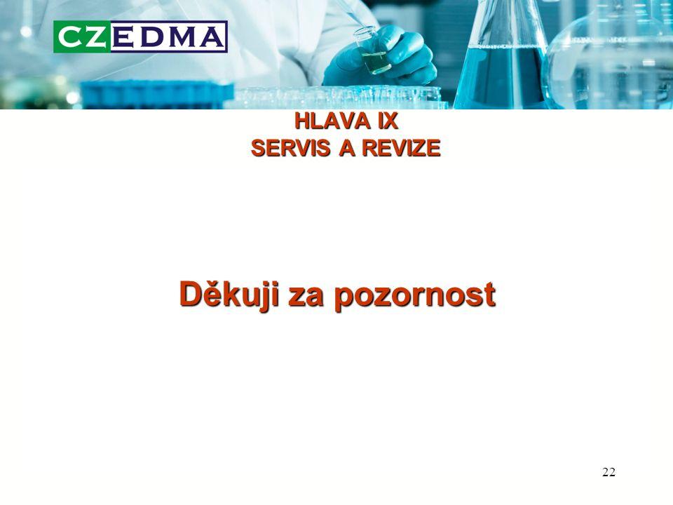 HLAVA IX SERVIS A REVIZE Děkuji za pozornost 22