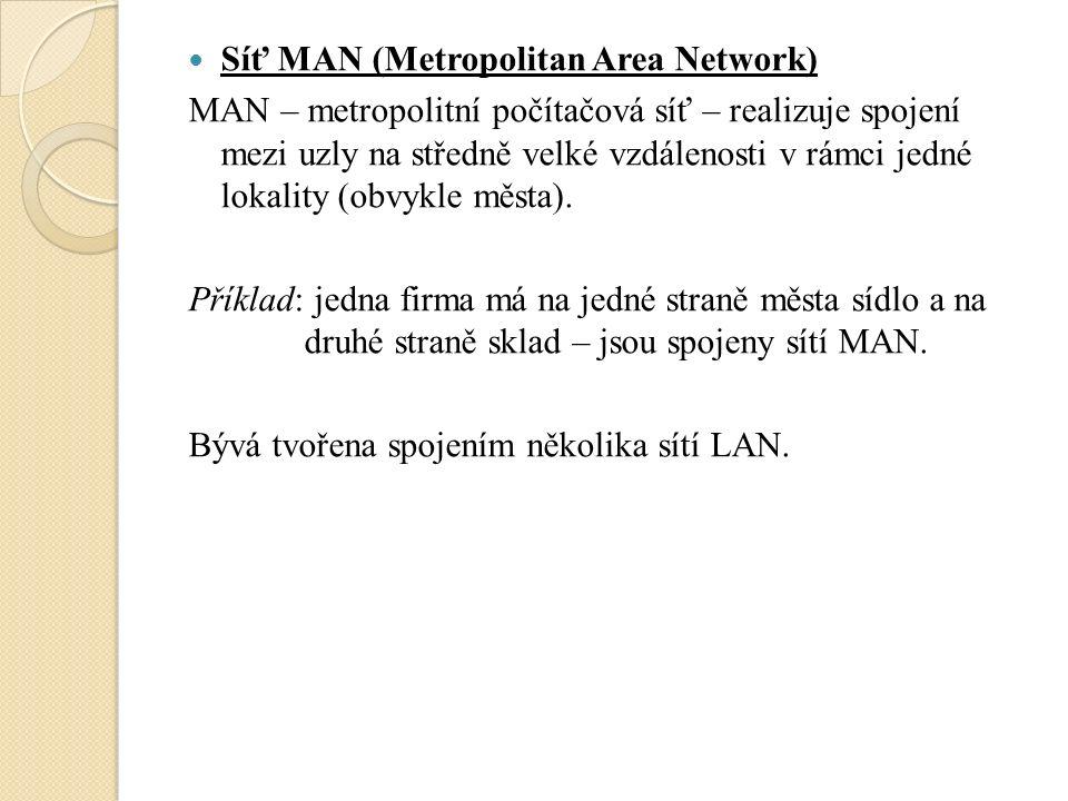 Architektura sítí Architektura peer – to – peer Obvykle neobsahují server.