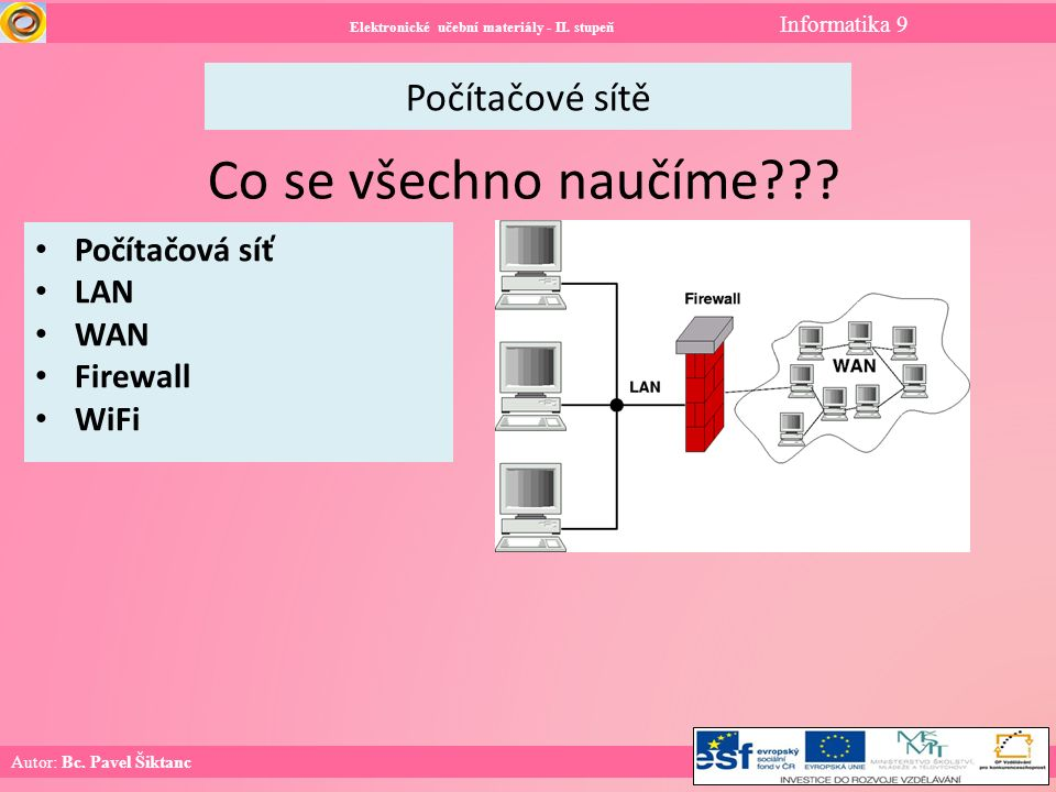 Počítačové sítě Elektronické učební materiály - II.