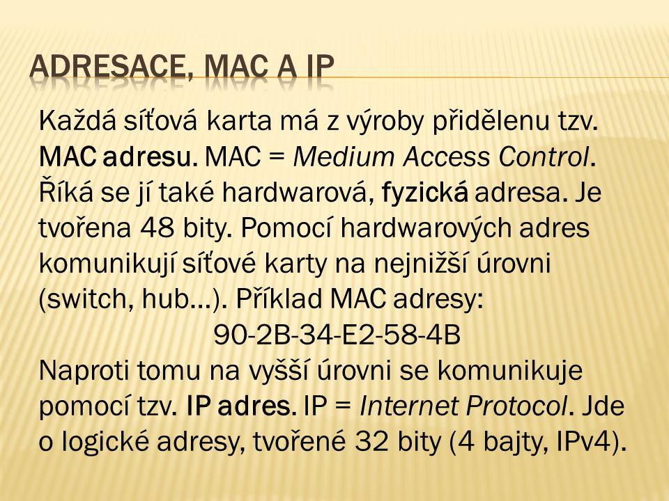 IP adresa vypadá v současném IPv4 protokolu tak, že se jedná o čtveřici bajtů, oddělenou tečkami.
