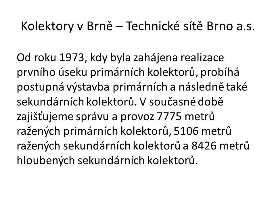 Kolektory v Brně – Technické sítě Brno a.s.