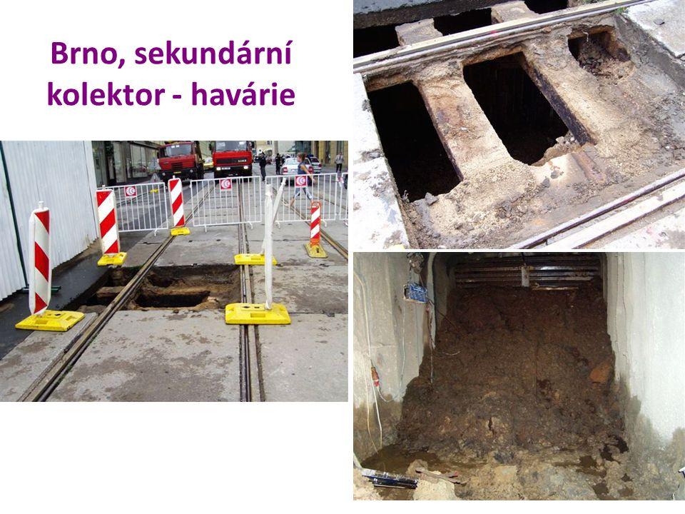 Brno, sekundární kolektor - havárie