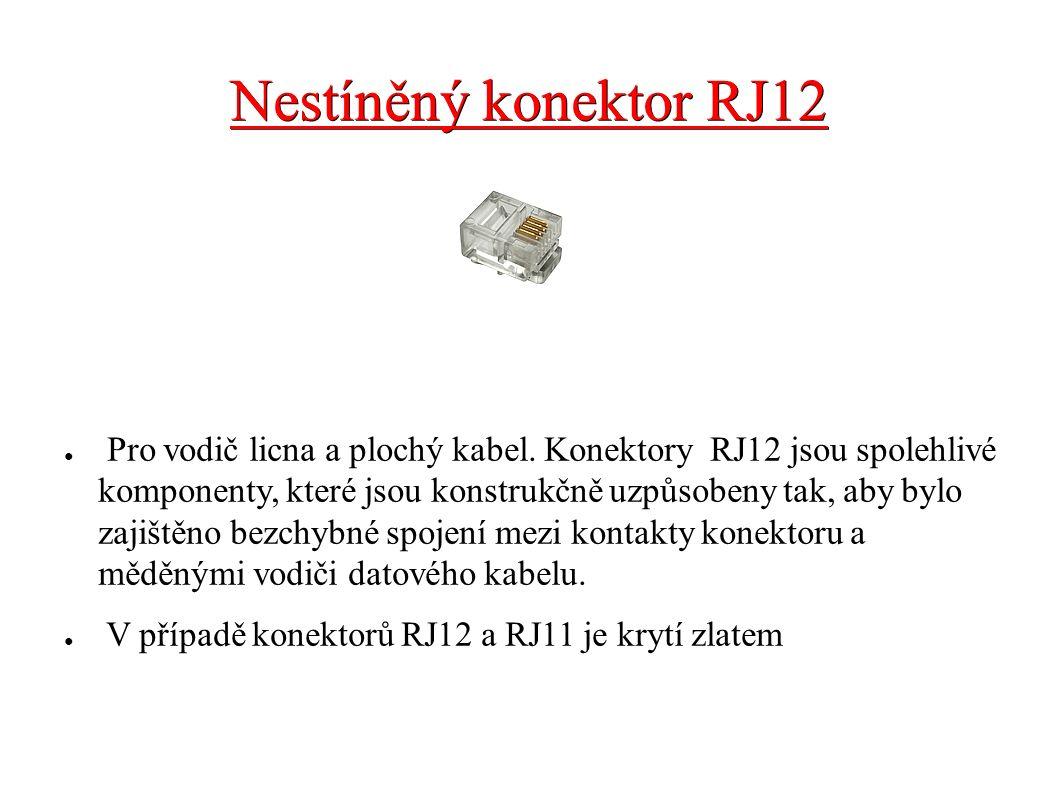Nestíněný konektor RJ12 ● Pro vodič licna a plochý kabel. Konektory RJ12 jsou spolehlivé komponenty, které jsou konstrukčně uzpůsobeny tak, aby bylo z