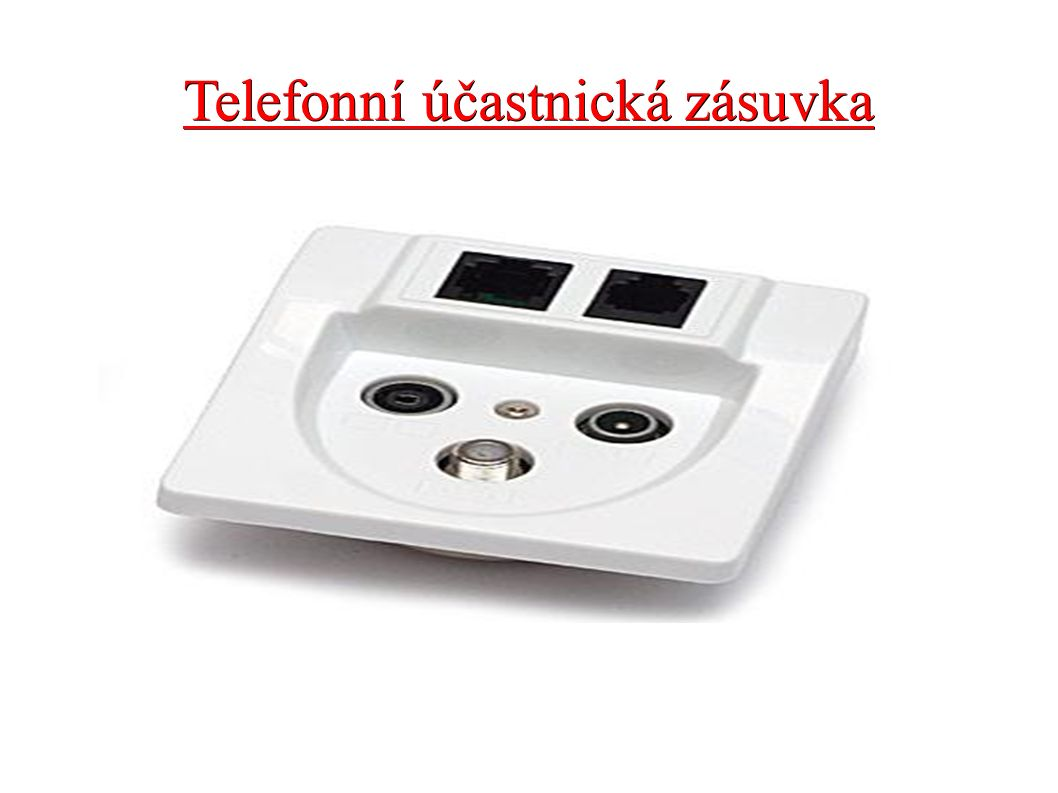 Telefonní účastnická zásuvka