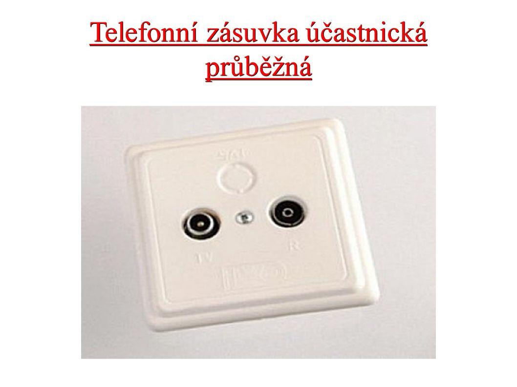 Telefonní zásuvka účastnická průběžná